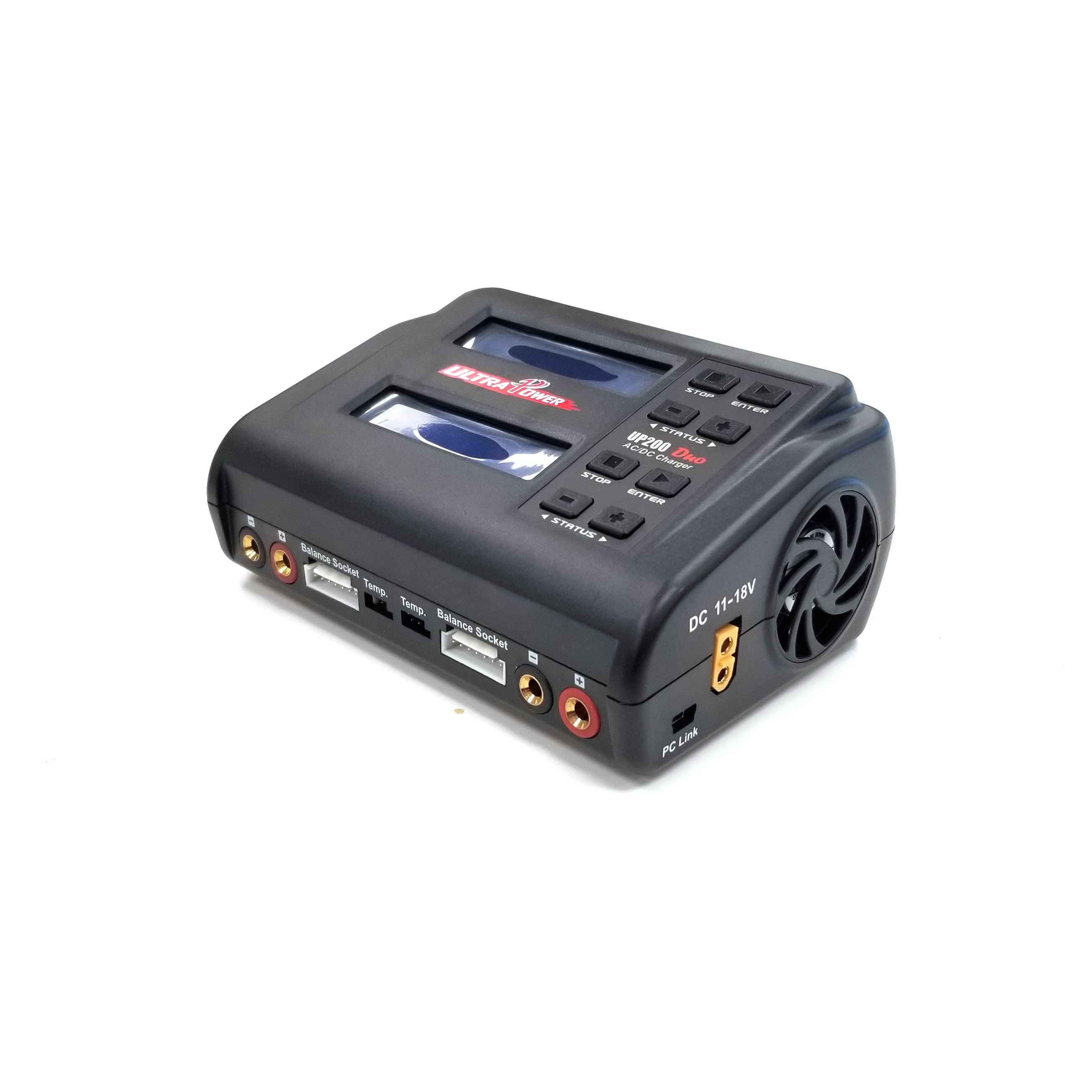 Ultra Power Technology Rc Model Vehicle Duo Dual Port Multi Chemistry Ac Dc Charger - 200w
