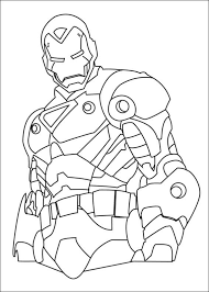 Iron Man Coloring In Pages