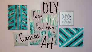 Tape Peel Away DIY Canvas Art