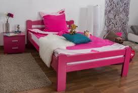bett 120 x 200 cm buche massiv rosa