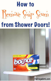 how to remove soap scum from shower doors clever tips the