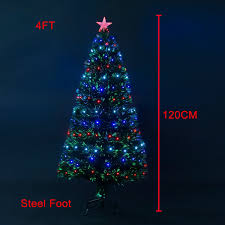4ft Christmas Tree Uk by Homcom 3ft 4ft 5ft Green Fibre Optic Artificial Christmas Tree