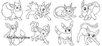 Eevee Coloring Pages Lock Screen All With Pokemon Colouring