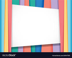 Border Template With Rainbow Background Vector Image