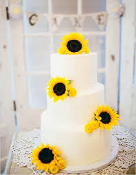 Sunflower Wedding Cake Topper For A Summer