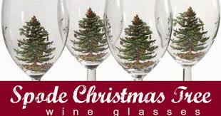Spode Christmas Tree Glasses by The Best Wine Gifts Spode Christmas Tree Wine Glasses