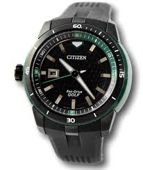 100 Eco Golf Citizen Mens Drive AW150503E Sphere Black Stainless