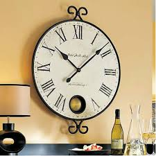 Wrought Iron Framed Pendulum Peep Hole Gallery Wall Clock