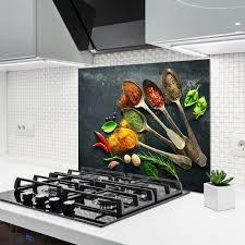 küchenrückwand aus glas gewürze 90x65 cm bei