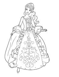 Aramina In Beautiful Ball Dress Coloring Page
