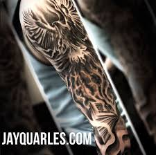 PHOENIX BOOK MAGIC FLAMES SMOKE SLEEVE TATTOO BLACKANDGREY JAY QUARLES