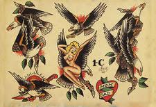 Sailor Jerry Tattoo Art Flash 17 13 X 19 Photo Print