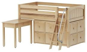 Low Loft Bed With Desk And Dresser by Maxtrix Low Loft Bed With Angle Ladder Desk 2x4 Drawer Cube