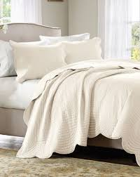Noble Excellence Bedding by Ivory Matelasse 3pc King Coverlet Set Cottage Quilt Cream