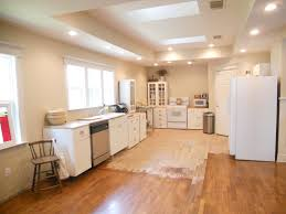 Measured Modern Kitchen Decor With White Cabinet Set Also Repainting Light Wood Floors As Inspiring Remodeling Ideas