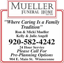 Mueller Funeral Home 904 E Main St Winneconne WI YP