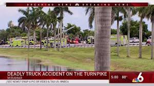 Driver Killed In Truck Crash On Turnpike In Miramar - NBC 6 South ... File2016 Mcas Miramar Air Show 160923mks2115jpg Wikimedia Carpet Cleaning Mesa Arizona Tile Southeast Foods Distribution Fl Rays Truck Photos Platina Cars Trucks Inc 2290 South State Road 7 The Worlds Best Of Miramar And Truck Flickr Hive Mind 2019 Thor Motor Coach 352 R28739 Demtrond Rv Fileshockwave Jet Speeds Things Up At 2016 Comcast To Hire For 600 New Jobs In Sun Sentinel Jos Andrs On Twitter Themeatballcopr Is Back The Fire Rescue 70 Fireemspics Beach Florida Condo Vacation Resort Seascape