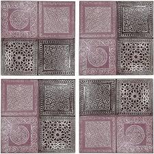 4er set orientalisches wandbild wanddeko sahra 3 30cm aus