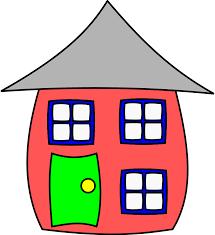 Clip Art Cute House And