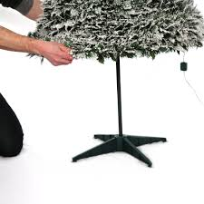 7ft Pre Lit Christmas Tree Tesco by Pre Lit Snow Flocked Pop Up Christmas Tree 1 8m 200 Warm White