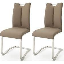 robas lund esszimmerstühle 2er set cappuccino schwingstuhl esszimmerstuhl max 140 kg belastbar stuhl artos