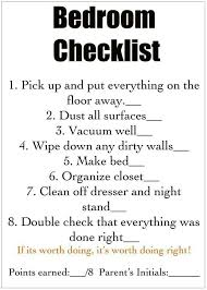 Cleaning Bedroom Checklist Photo