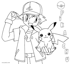 Printable Pikachu Coloring Pages For Kids