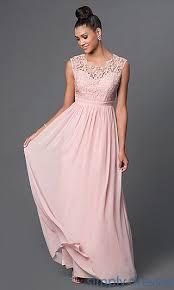 Floor Length Lace Bodice Sleeveless Formal Dress