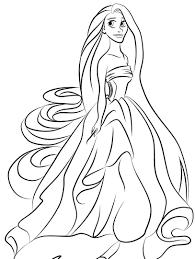 Princess Rapunzel Coloring Pages 8