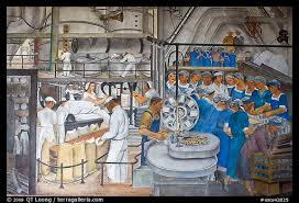 Coit Tower Murals Images by Picture Photo Factory Workers Depicted In Mural Fresco Inside