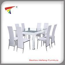 moderne leder esstisch mit 8 stühlen buy esszimmer tische mit 8 stühle esstisch und stuhl glas top esstisch mit leder stühle product on alibaba