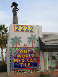 one world mexican tile store colorful facade with monkey flickr