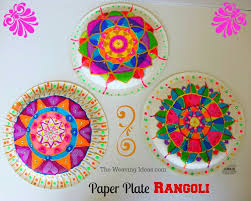 Paper Plate Rangoli Craft Idea For Kids