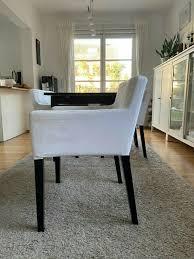 ikea esszimmer set 6 stühle nils weiß auszieh tisch bjursta
