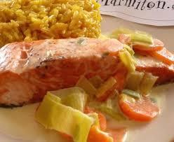pavé de saumon safrané recette de pavé de saumon safrané marmiton