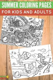Free Seaside Summer Coloring Pages For Kids And Adults