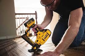 Flooring Nailer Vs Stapler by New Dewalt 20v Max Cordless Nailers U0026 Staplers Nail Gun Network