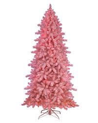 Flocked Christmas Trees Decorated by Pink Frosting Flocked Artificial Christmas Tree Treetopia