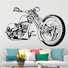 harley motorrad wand kunst aufkleber poster für wohnzimmer schlafzimmer dekoration decals tapete wandbild wand aufkleber 1214