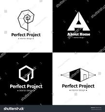 100 Interior Designers Logos Vector Set Four Minimalistic Design Stock Vector