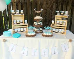Black White And Tiffany Blue Wedding Or Bridal Shower Dessert Table Candy Buffet From Favor