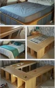 Make Queen Platform Bed Frame by Ikea Hackers Expedit Queen Platform Bed Interior Pinterest