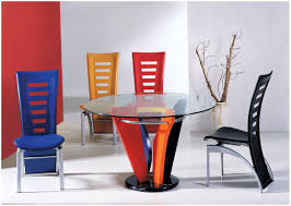 Modern Dining Room Sets Uk by Dining Room Table With Colorful Base Dazzling Modern Dining Room