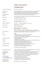 Procurement Buyer Resume Sample From Graduate Cv Template Student Jobs Career
