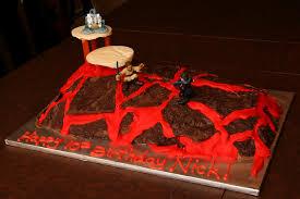 all sizes wars mustafar lava duel cake flickr