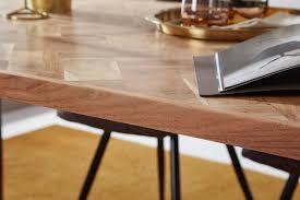 esszimmertisch lodi 180x77x90 cm massivholz akazie metall industrial esstisch massiv groß küchentisch holztisch esszimmer großer speisetisch
