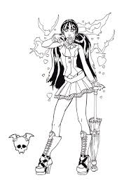 Print Monster High Coloring Pages 18 Free Printable For Kids