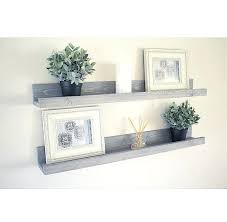 Wall Shelf Decor Rustic Wooden Picture Ledge Gallery Floating