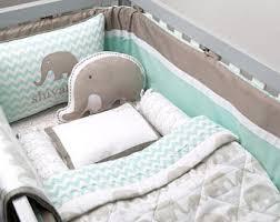 Elephant crib set