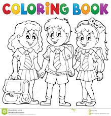 Coloring Book For College Crybabies With School Pupils Stock Vector Image